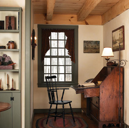Early new england homes by country carpenters old house for Old colonial designs
