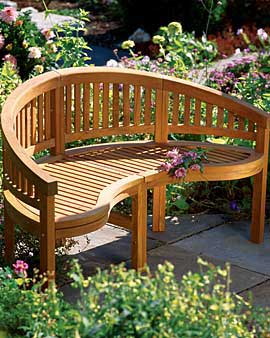 curved wooden garden bench plans