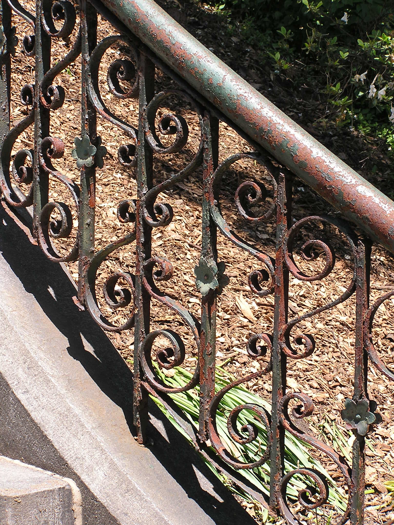 Dissolve Rust Iron a Rusted Iron Railing That 39 s
