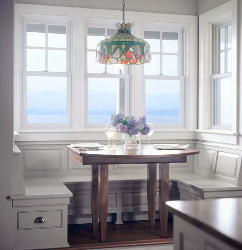 Charming Banquette Seats