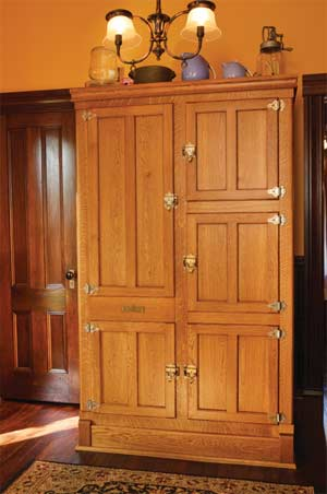 Reproduction kitchen in an old house old house online for Boxed kitchen cabinets