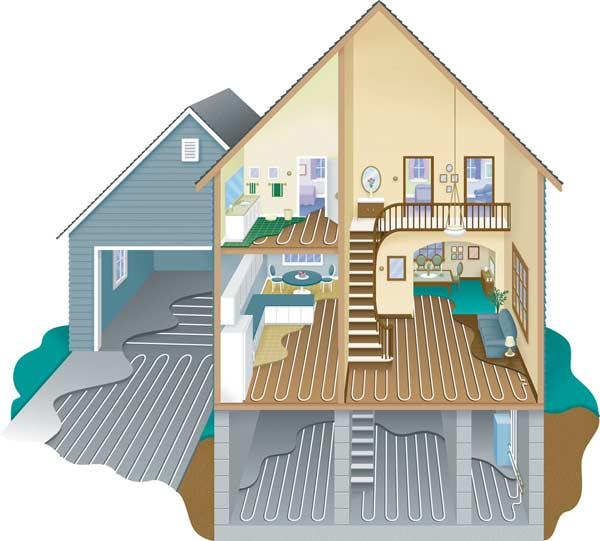 A look at radiant heating systems old house online old for Heating systems for houses