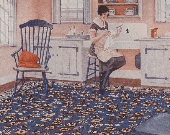 History of linoleum rugs old house online for 1920s kitchen floor