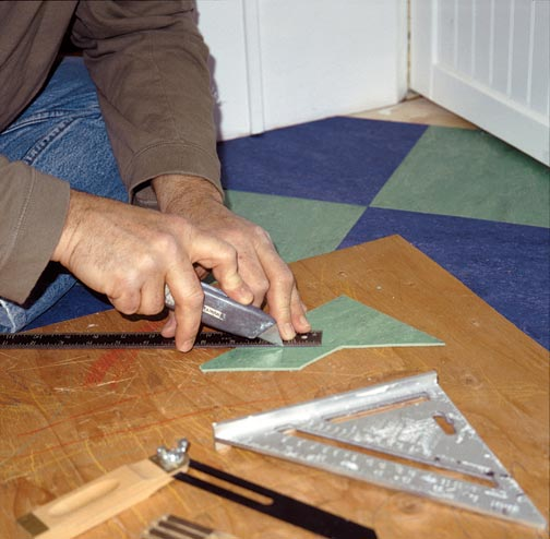 Few Tools Are All You Need To Cut The Edges Of Linoleum Tile Using