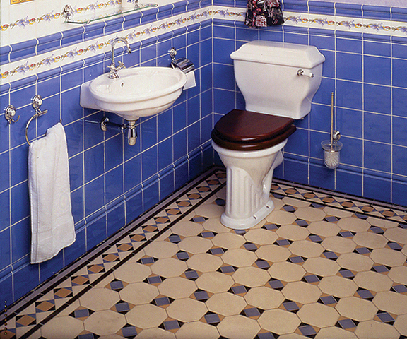 Tile Patterns For Floors In Old House Baths Old House Online Old House Online