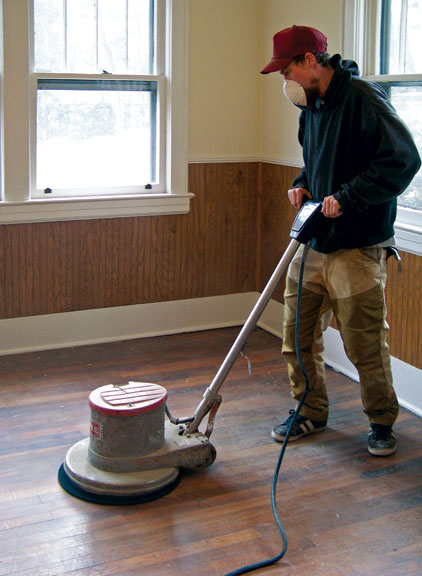 floor polisher fitted with a synthetic pad will make quick work of ...