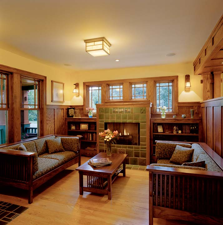 Fireplace on pinterest Craftsman home interior