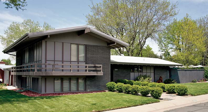 Mid century modern at arapahoe acres in englewood - Modern gable roof designs ...