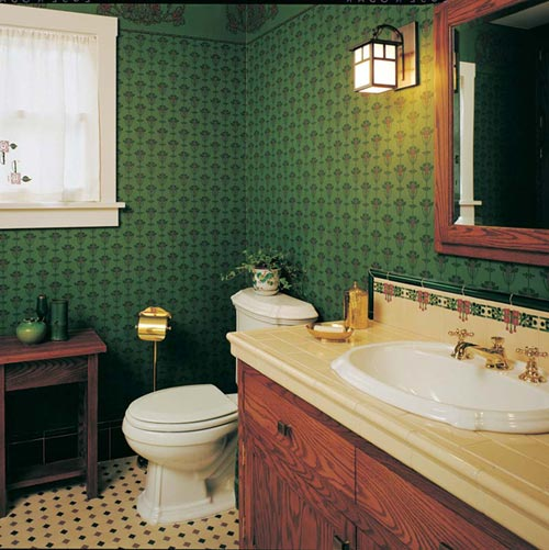 Modest arts crafts bungalow bathroom old house online for Arts and crafts bathroom ideas