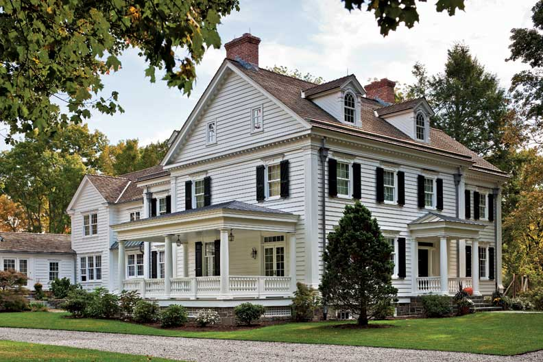 An elegant new england federal old house online old Elegant farmhouse plans