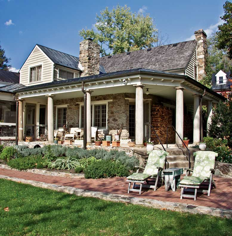 Saving an eclectic colonial house old house online old for Log and brick home