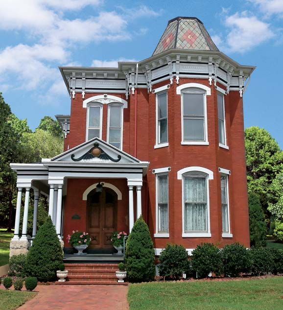 Red Brick Victorian House