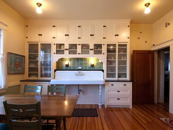 Salvaged Cabinets And A 6 39 Sink Are The Centerpiece Of This Lovingly