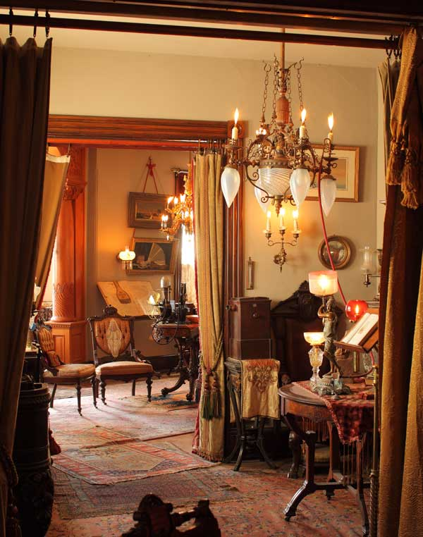 Authentic Victorian Interior Of Victorian Lighting And