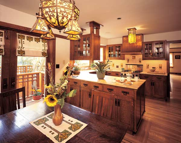Bungalow kitchen restorations old house online old for Arts and crafts kitchen designs