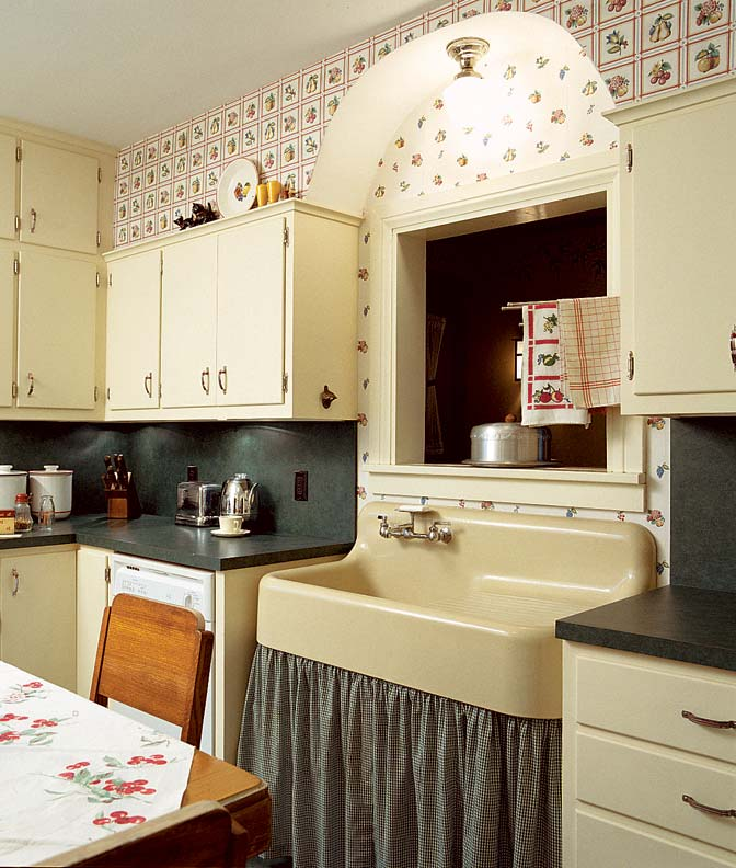 Wallpaper for kitchen for Wallpapered kitchen ideas