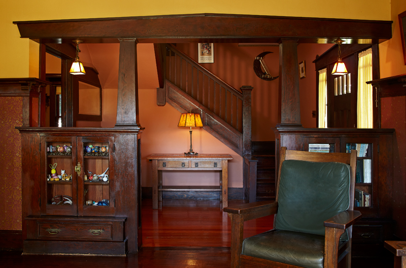 the formal foyer somewhat unusual for a craftsman house showcases. Black Bedroom Furniture Sets. Home Design Ideas