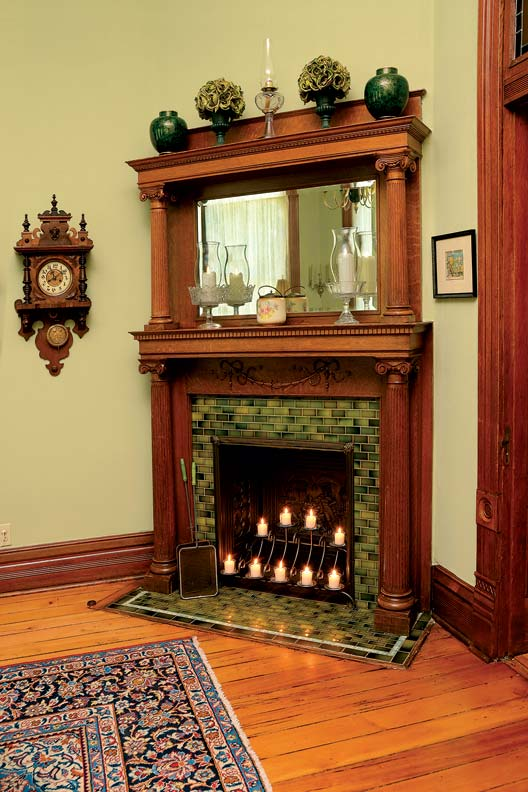 reviving the victorian eitzen mansion old house online On victorian corner fireplace