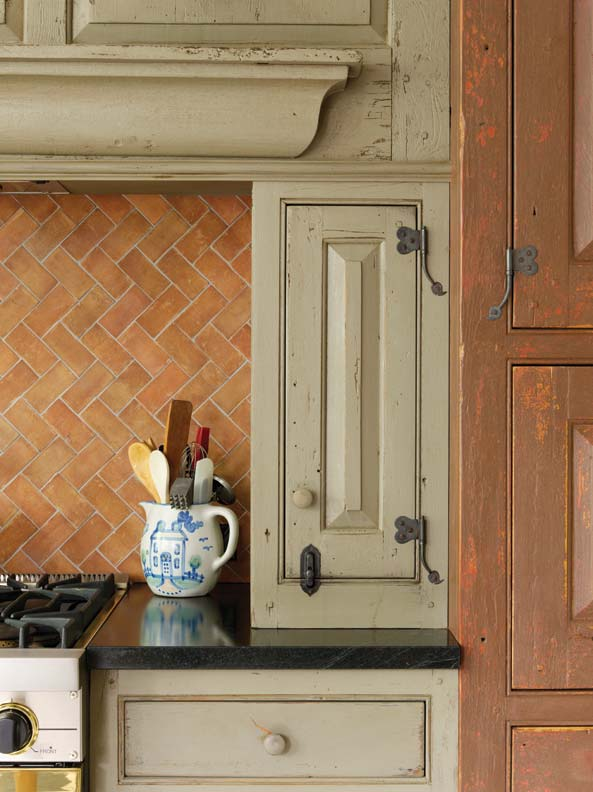 A new colonial kitchen old house online old house online for Period kitchen cabinets