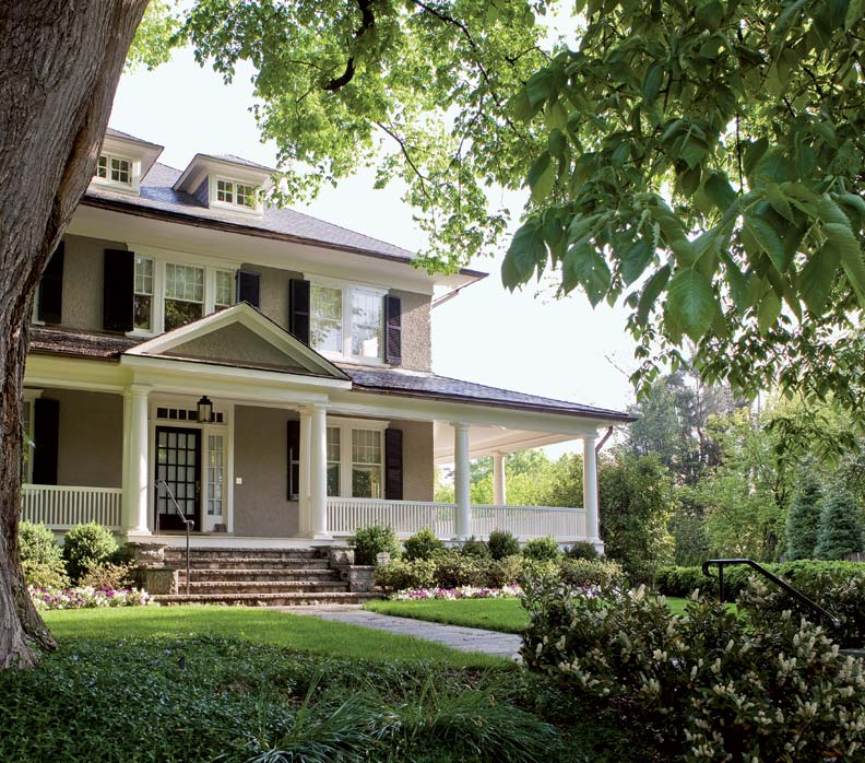 Refreshing a century old foursquare old house online for Exterior features of a house