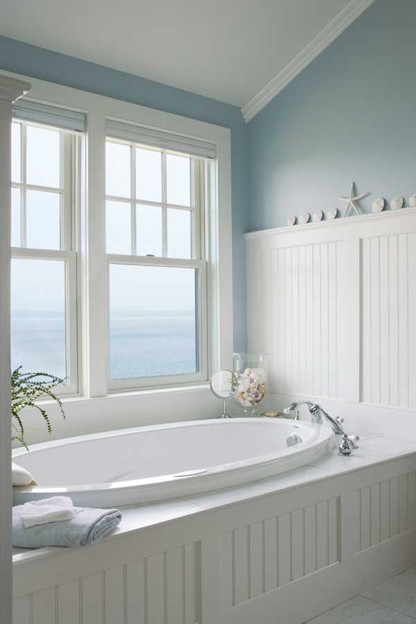 3 ways to design a bath in an early house old house for Small coastal bathroom ideas
