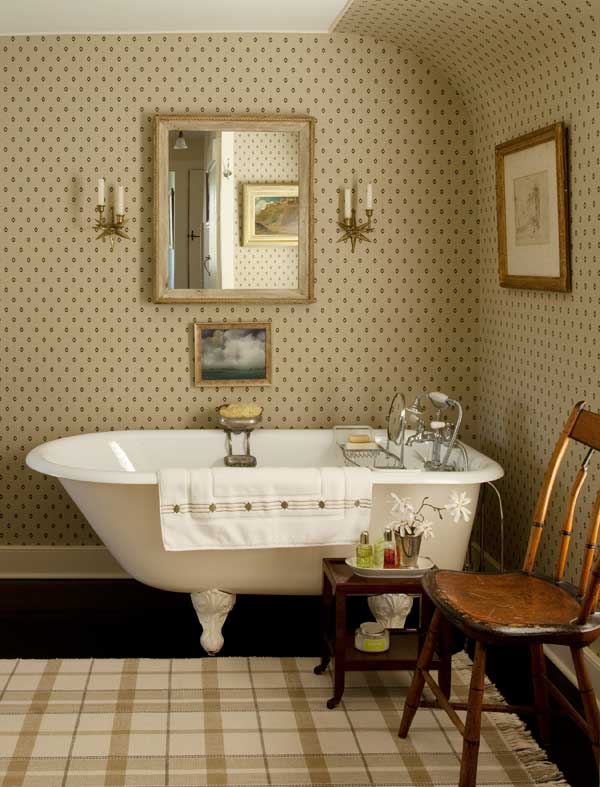 3 ways to design a bath in an early house old house for Neoclassical bathroom designs