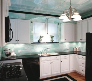 this St. Louis kitchen with a total remodel. Structural glass kitchens