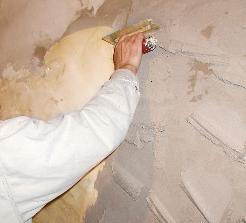 Base Coat Plaster : How to repair textured plaster old house online