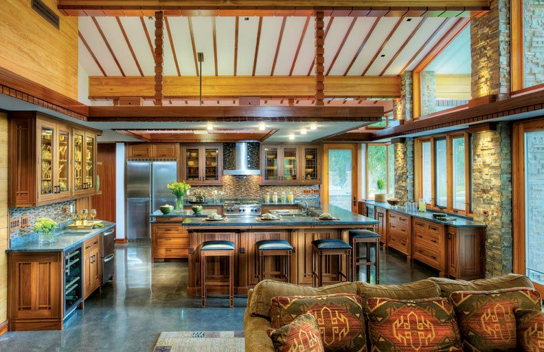 A frank lloyd wright inspired kitchen old house online for Frank lloyd wright kitchen ideas