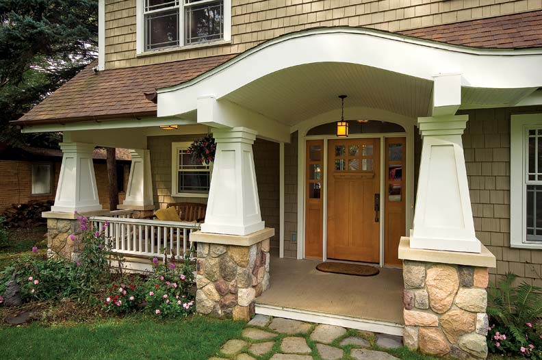 A new bungalow with authentic details old house online for Bungalow porch columns