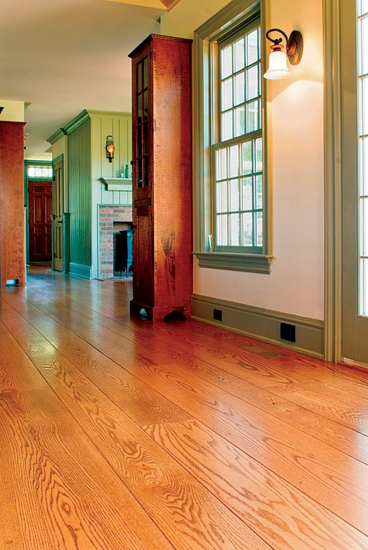 Using wide-plank flooring can help a new addition blend with an old ...