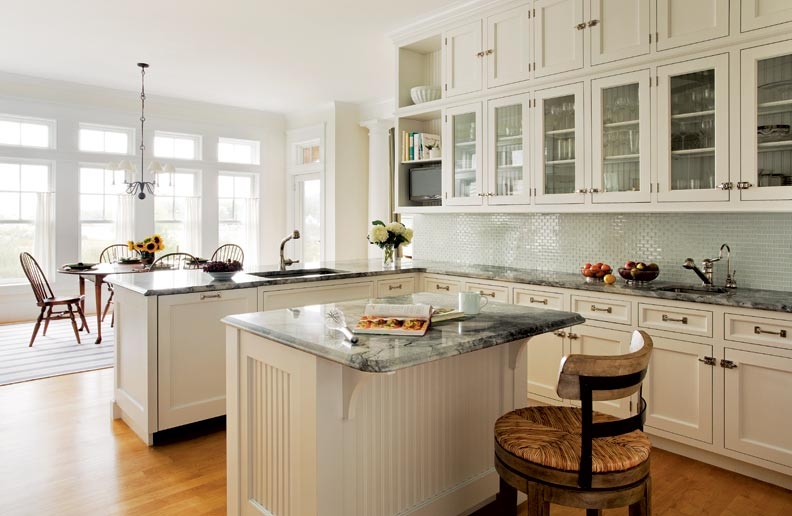 A classic all white kitchen old house online old house online - All about kitchens ...