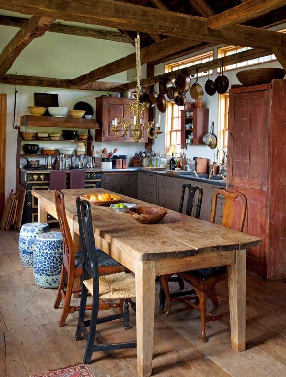 Chaise Cuisine De Couleur : These owners added an 18thcentury barn to serve as a kitchen and