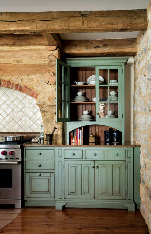 primitive colonial inspired kitchen old house online