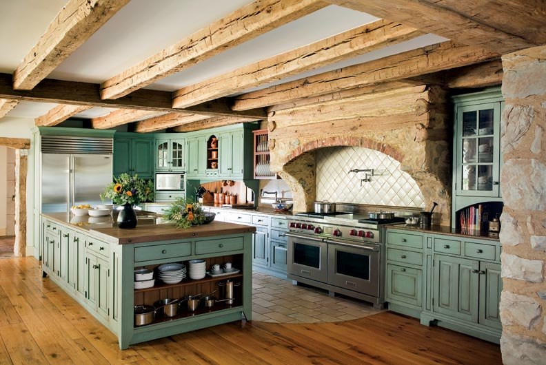 Primitive Colonial Inspired Kitchen Old House Online Old House Online