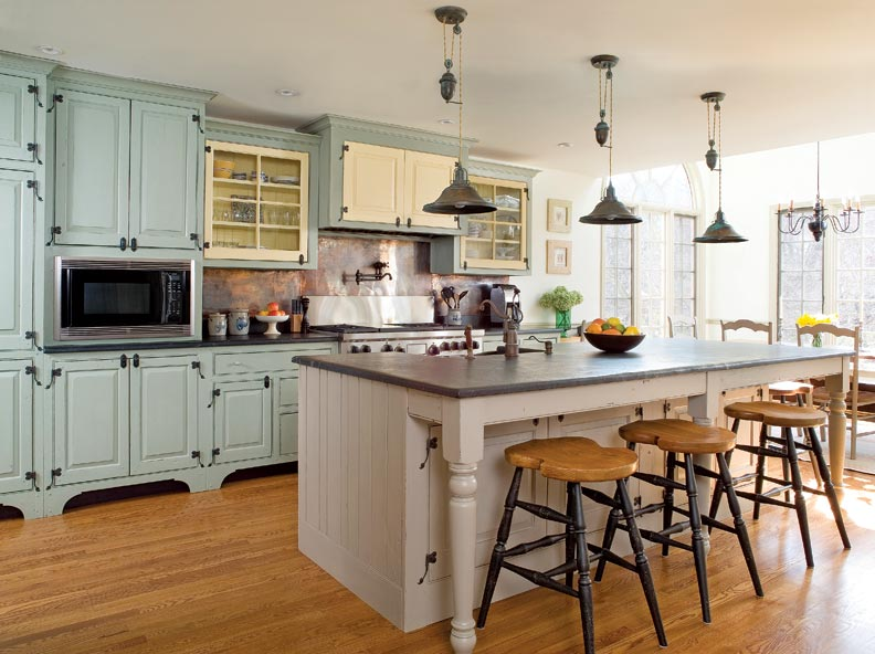 Traditional trades period kitchen cabinets old house for Kitchen ideas modern country
