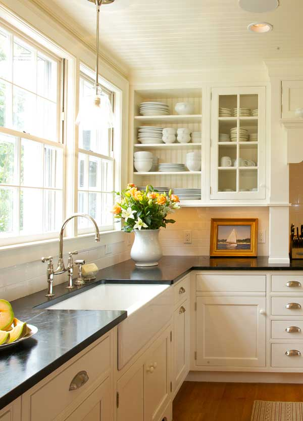 New Classic Kitchen In A Cape Cod Federal Old House: cape cod style kitchen design