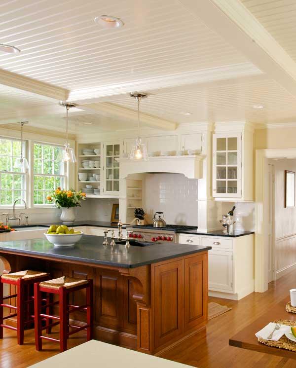 New Classic Kitchen In A Cape Cod Federal