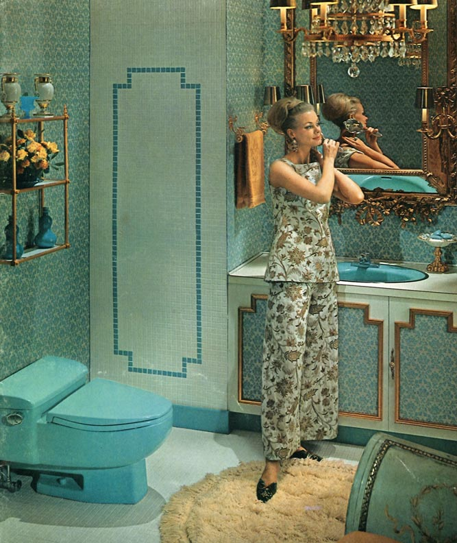 The evolution of colored bathroom fixtures old house for 1960s bathroom design