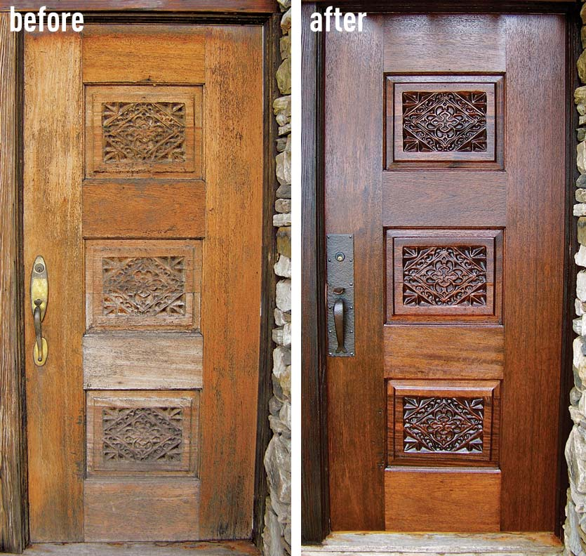 how to refinish an entry door old house online old