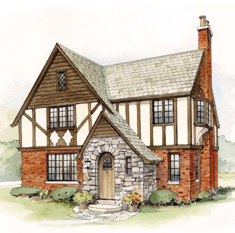 Early 20th century suburban house styles old house for Small tudor homes