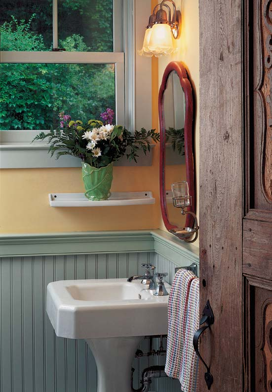 Beadboard Continues To Be The Wainscot Of Choice In Bathrooms And