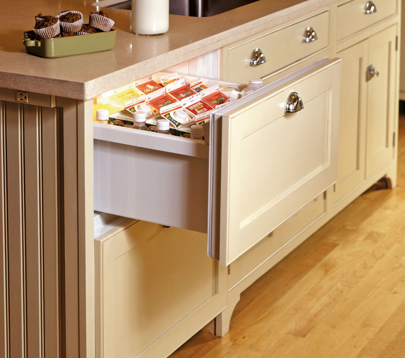 Built in Refrigerator Drawers Refrigerator Drawer in an