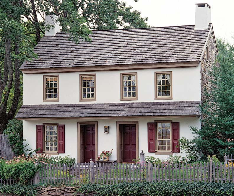 Paint Palettes For Colonial Colonial Revival Houses: cost of building a house in pa