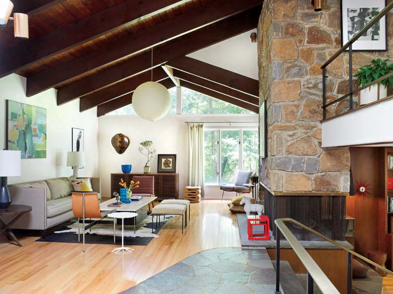 A mid century modern marvel in delaware old house online for Mid century modern flooring