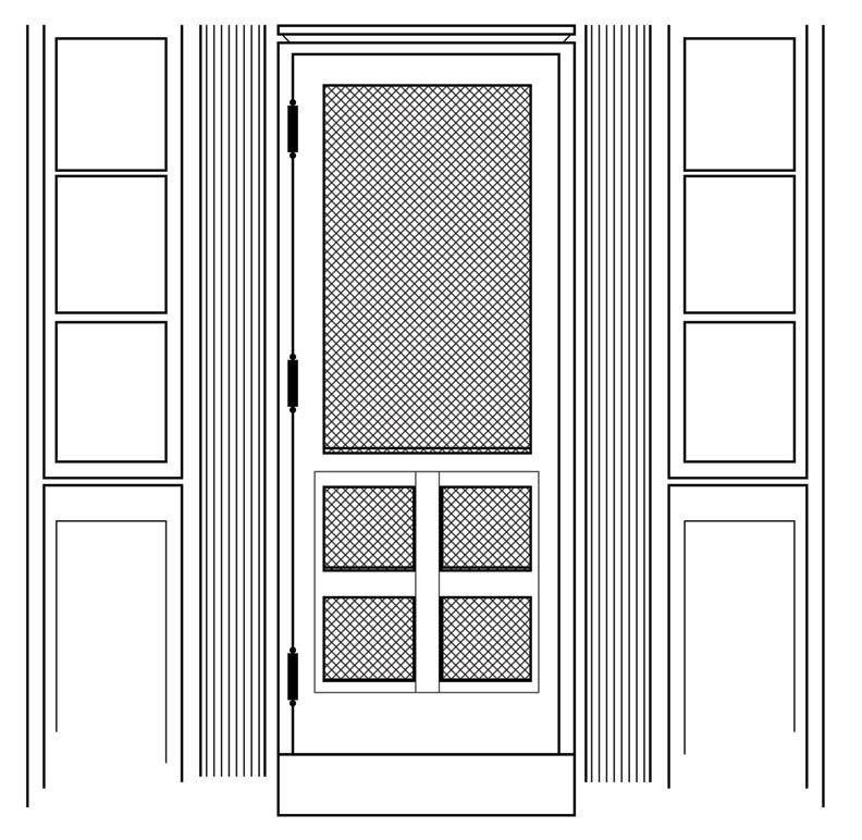 Weekend makeover install a new screen door old house for New screen door
