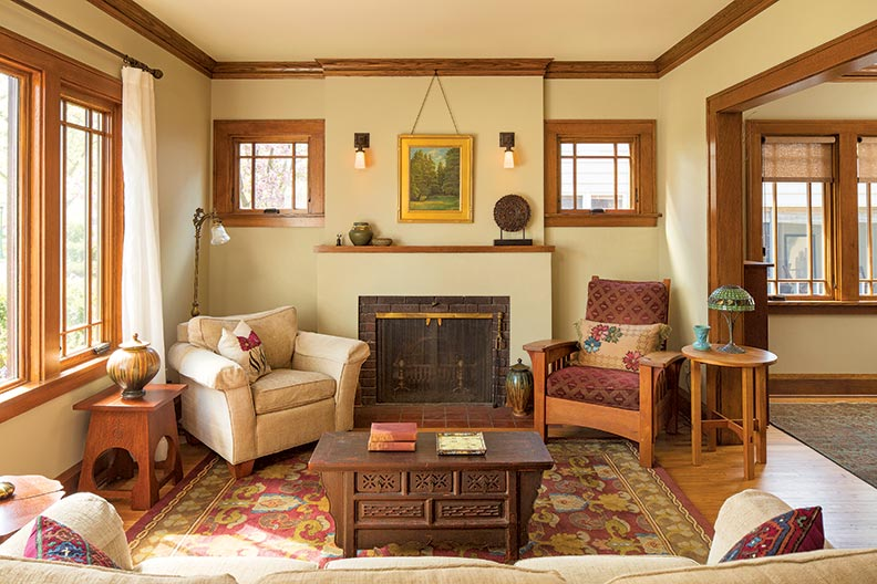 Putting the bungalow back old house online old house for 1920s living room ideas