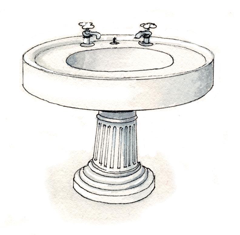 1920 Pedestal Sink : 1920s pedestal sink