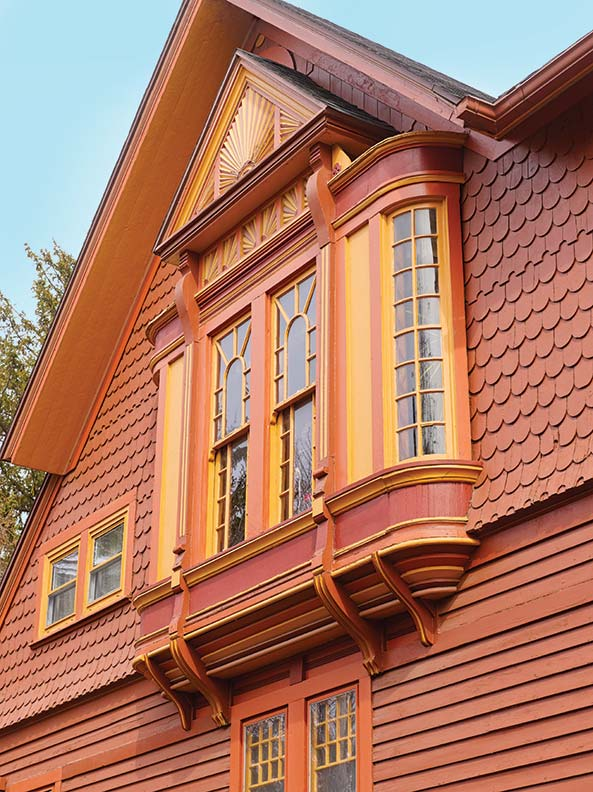 An exuberant queen anne in michigan old house online for Queen anne windows