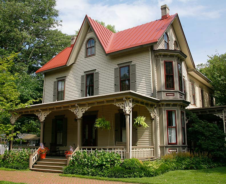 Varied victorians of haddonfield new jersey old house for Double storey victorian homes